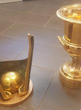 Den WM-Pokal für die Homepage.