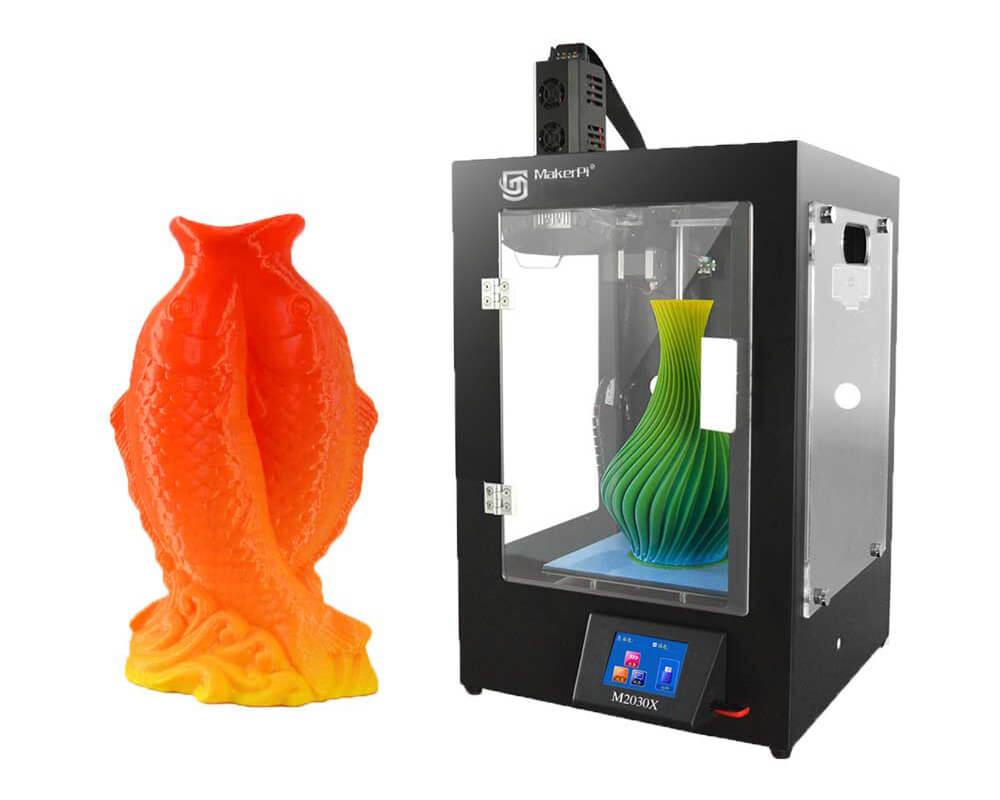 Makerpi M2030X front ansicht mit 3D Ausdruck